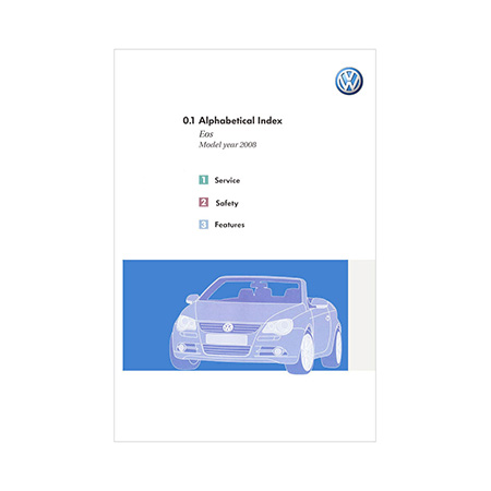 2008 VW EOS Owner S Manual Kit 2nd Edition Canadian English VW